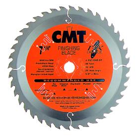 CMT 7-1/4-in 40-Tooth Continuous Carbide Circular Saw Blade