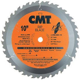 CMT 10-in 24-Tooth Continuous Carbide Circular Saw Blade
