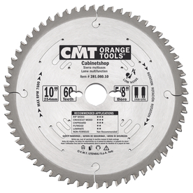 CMT 10-in 60-Tooth Continuous Circular Saw Blade
