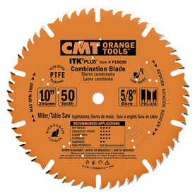 CMT 10-in 50-Tooth Continuous Carbide Circular Saw Blade