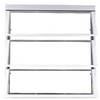 West Palm 800 Series Horizontal Aluminum Single Pane Double Strength Replacement Egress Awning Window (Rough Opening: 20.875-in x 39.375-in; Actual: 19.125-in x 38.375-in)