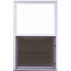 West Palm 500 Series Aluminum Single Pane Double Strength Replacement Single Hung Window (Rough Opening: 38-in x 64-in; Actual: 37-in x 63-in)