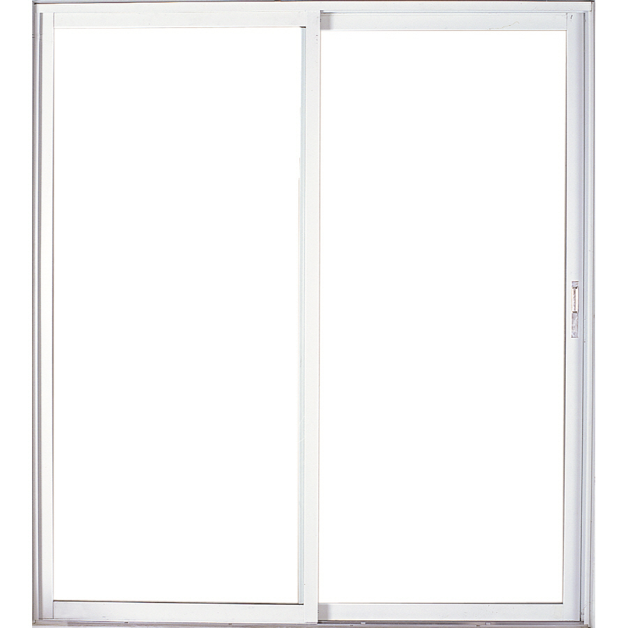 Shop west palm 72 in clear glass aluminum sliding patio for Sliding patio screen door