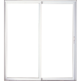 West Palm 72-in Tempered Clear Aluminum Sliding  Patio Door