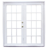 West Palm 79-3/4-in Tempered Clear Aluminum French Outswing Patio Door