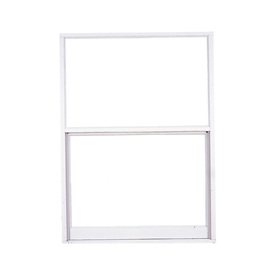 West Palm 580 Series Aluminum Single Pane Annealed Replacement Egress Single Hung Window (Rough Opening: 54.125-in x 51.625-in; Actual: 53.125-in x 50.625-in)