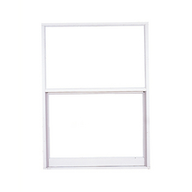West Palm 580 Series Aluminum Single Pane Double Strength Replacement Egress Single Hung Window (Rough Opening: 38-in x 51.625-in; Actual: 37-in x 50.625-in)
