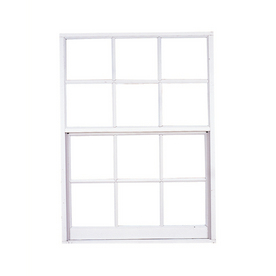 West Palm 580 Series Aluminum Single Pane Annealed Replacement Egress Single Hung Window (Rough Opening: 38-in x 51.625-in; Actual: 37-in x 50.625-in)