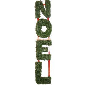 "63"" Fresh-Cut Christmas NOEL Spirit Letter Hanging Decoration"