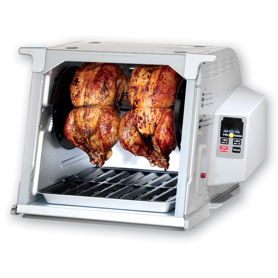 Shop Ronco 1,250-Watt Platinum Countertop Rotisserie Oven at Lowes.com