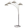 Nova Lighting 87-in 8-Light Brushed Nickel Floor Lamp with Brushed Nickel Shade
