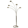Nova Lighting 87-in 5-Light Brushed Nickel Floor Lamp with Brushed Nickel Shade