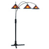 Nova Lighting 87-in Bronze Indoor Floor Lamp with Plastic Shade