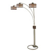 Nova Lighting 82-in 3-Light Dark Brown Floor Lamp with Dark Brown Shade