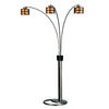 Nova Lighting 82-in 3-Light Dark Brown Floor Lamp with Elephantine Parchment Shade