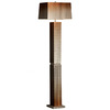 Nova Lighting 60-in 3-Way Bronze Floor Lamp with Rust Shade