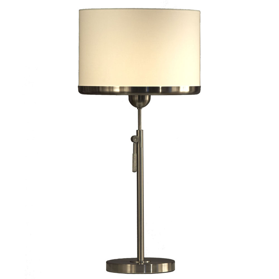 shop nova 30 in brushed nickel touch on off indoor table lamp with. Black Bedroom Furniture Sets. Home Design Ideas