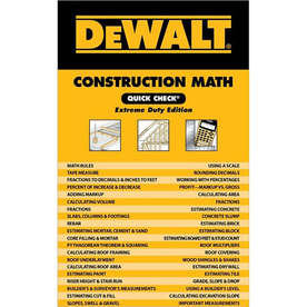 Dewalt Construction Math