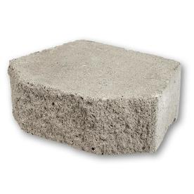 Fulton 12-in L x 4-in H Natural Grey Basic Retaining Wall Block (Actuals 12-in L x 4-in H)