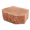 Terra Cotta Color in A Split Face Basic Concrete Retaining Wall Block (Common: 12-in x 4-in; Actual: 12-in x 4-in)