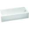 Briggs Pendant White Porcelain Enamel Rectangular Skirted Bathtub with Right-Hand Drain (Common: 30-in x 60-in; Actual: 14.25-in x 30-in x 60-in)