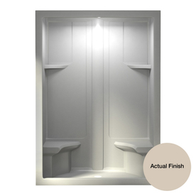 Aqua Glass 60-in H x 90-in W x 35-in L Dark Bone 1-Piece Shower