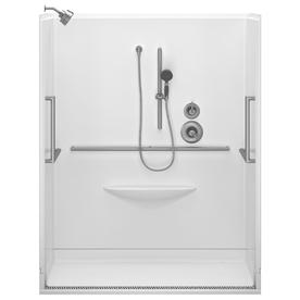 Delta 78-3/4-in H x 39-in W x 63-in L Delta Bathing Systems Bright White 1-Piece Shower