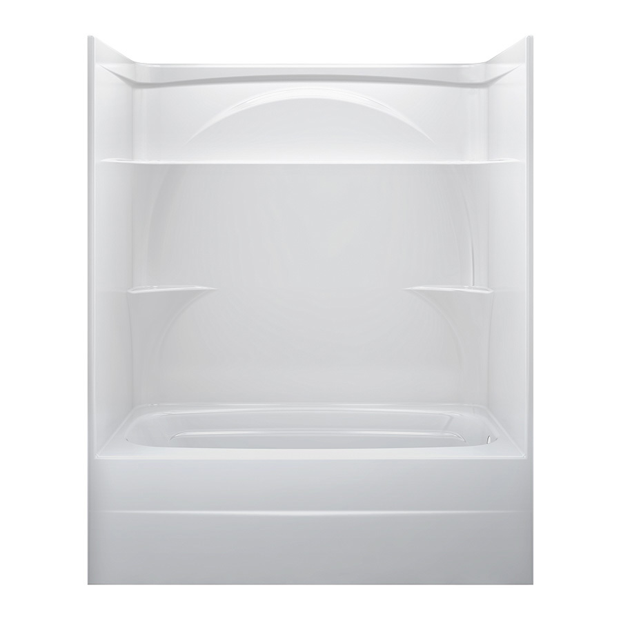 Shop Delta White Acrylic One Piece Shower With Bathtub Common 32 In X 60 In