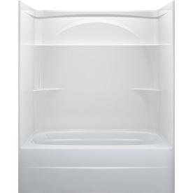 delta white acrylic one piece bathtub common 32 in x 60 in actual