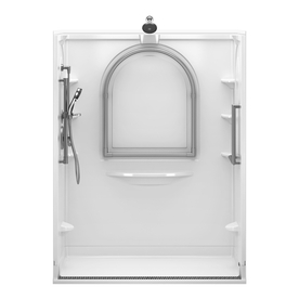 DELTA 78-3/4-in H x 60-in W x 34-in L Delta Bathing Systems High Gloss White 1-Piece Shower