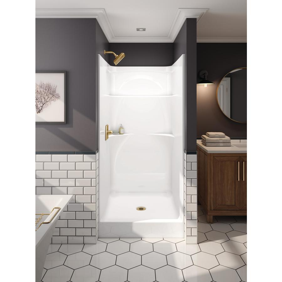 Shop DELTA 76 In H X 37 In W X 36 In L White 1 Piece Shower At