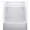 DELTA 74.5-in H x 60-in W x 32-in L Styla High Gloss White 3-Piece Alcove Shower Kit with Bathtub