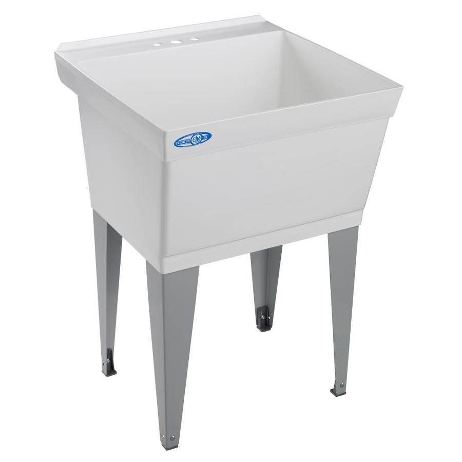 Mustee Utility Sink : Shop Mustee White Polypropylene Laundry Sink at Lowes.com