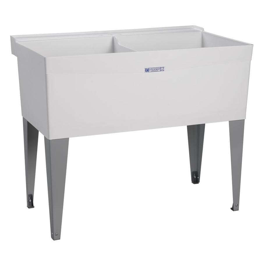Shop Mustee White Polypropylene Utility Tub at Lowes.com