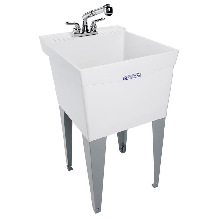 Mustee Utility Sink : Shop Mustee White Polypropylene Utility Tub at Lowes.com