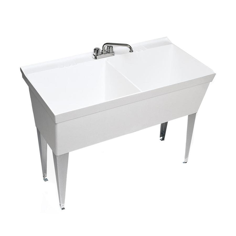 Laundry Tub Lowes : Shop Swanstone White Composite Laundry Sink at Lowes.com