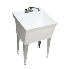 Swanstone White Composite Laundry Sink