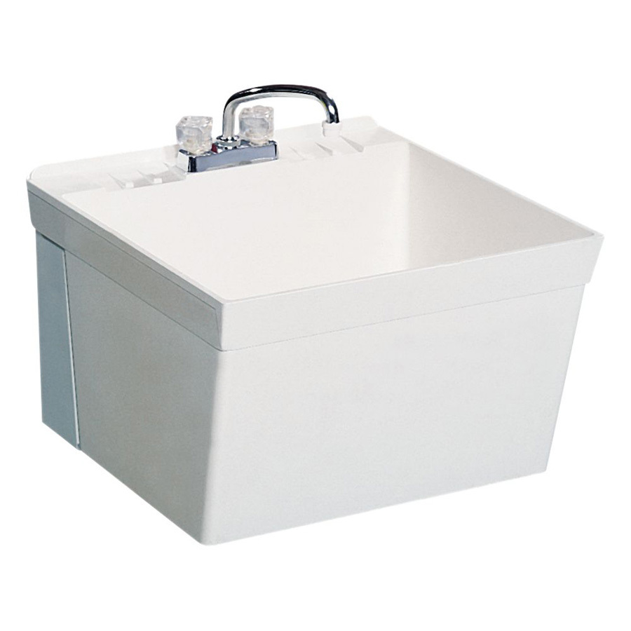 Laundry Basin Sink : Shop Swanstone White Composite Laundry Sink at Lowes.com