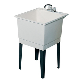 Laundry Tub Lowes : Shop Swanstone White Polypropylene Laundry Sink at Lowes.com