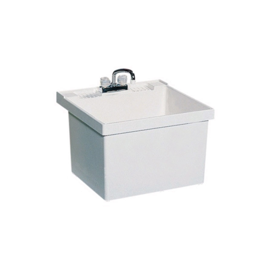 Small Laundry Tubs Sinks : Shop Swanstone White Composite Laundry Sink at Lowes.com