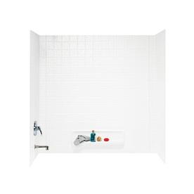 Swanstone White Fiberglass and Plastic Composite Bathtub Wall Surround (Common: 30-in x 60-in; Actual: 59.625-in x 30-in x 60-in)