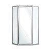 Swanstone 24-in W x 72-in H Polished Chrome Framed Neo-Angle Shower Door
