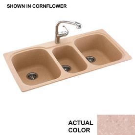 Shop swanstone triple basin drop in or undermount for Swanstone undermount sinks