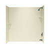 Swanstone 60-in W x 30-in D x 60-in H Bone Fiberglass Bathtub Wall Surround