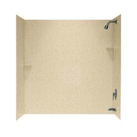 Swanstone Bermuda Sand Fiberglass and Plastic Composite Bathtub Wall Surround (Common: 30-in x 60-in; Actual: 60-in x 30-in x 60-in)