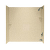 Swanstone 60-in W x 30-in D x 60-in H Bermuda Sand Fiberglass Bathtub Wall Surround