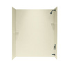Swanstone 60-in W x 30-in D x 72-in H Bone Fiberglass Bathtub Wall Surround