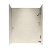 Swanstone 60-in W x 30-in D x 72-in H Almond Galaxy Fiberglass Bathtub Wall Surround