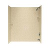 Swanstone 60-in W x 30-in D x 72-in H Bermuda Sand Fiberglass Bathtub Wall Surround