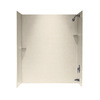 Swanstone 60-in W x 30-in D x 72-in H Tahiti Sand Fiberglass Bathtub Wall Surround